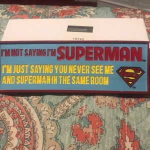 Superman plaque NIB quote spoontiques